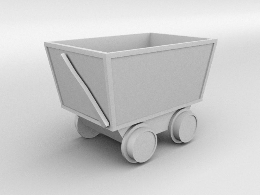 mine car royalty-free 3d model - Preview no. 4