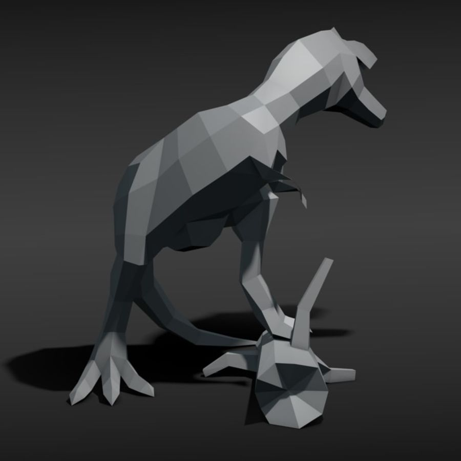 Tyrannosaurus Low Poly royalty-free 3d model - Preview no. 6