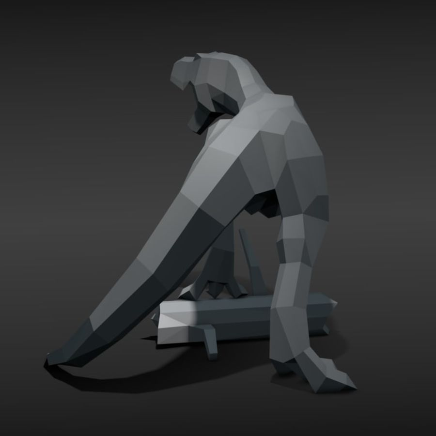 Tyrannosaurus Low Poly royalty-free 3d model - Preview no. 4