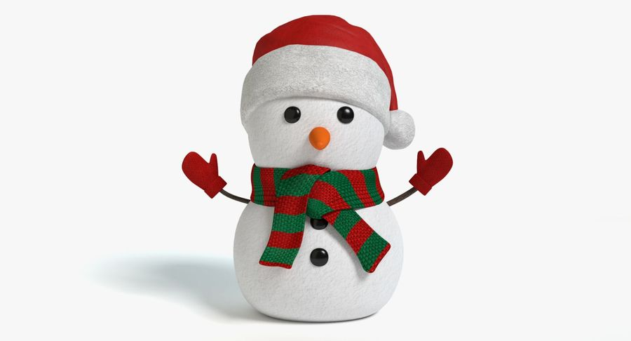 Holiday Snowman royalty-free 3d model - Preview no. 2