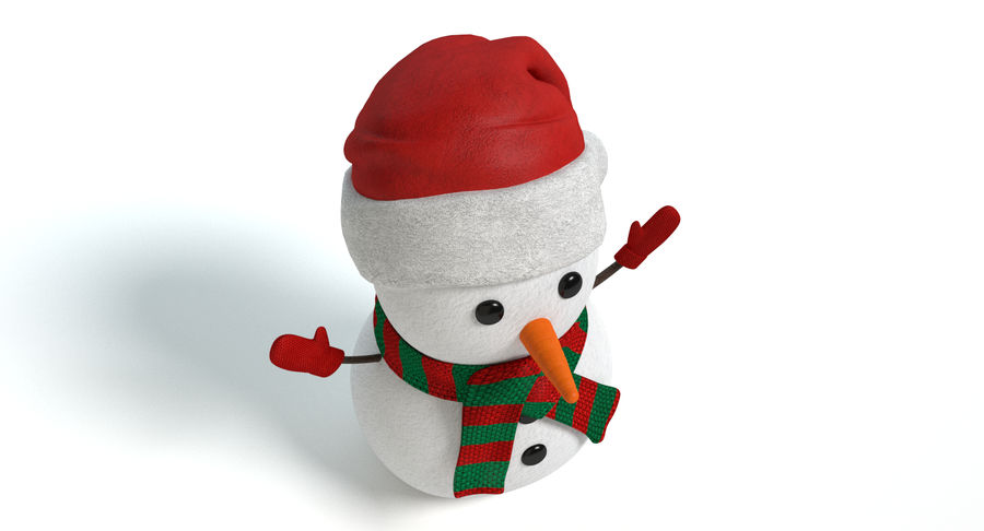 Holiday Snowman royalty-free 3d model - Preview no. 5