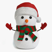 Holiday Snowman 3d model