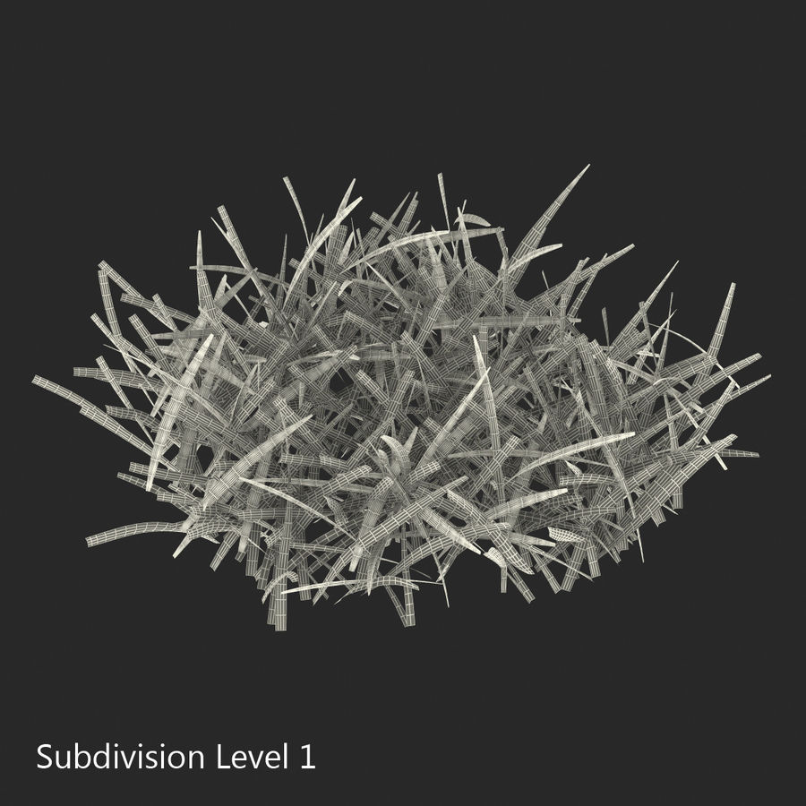 Grass 4 royalty-free 3d model - Preview no. 11