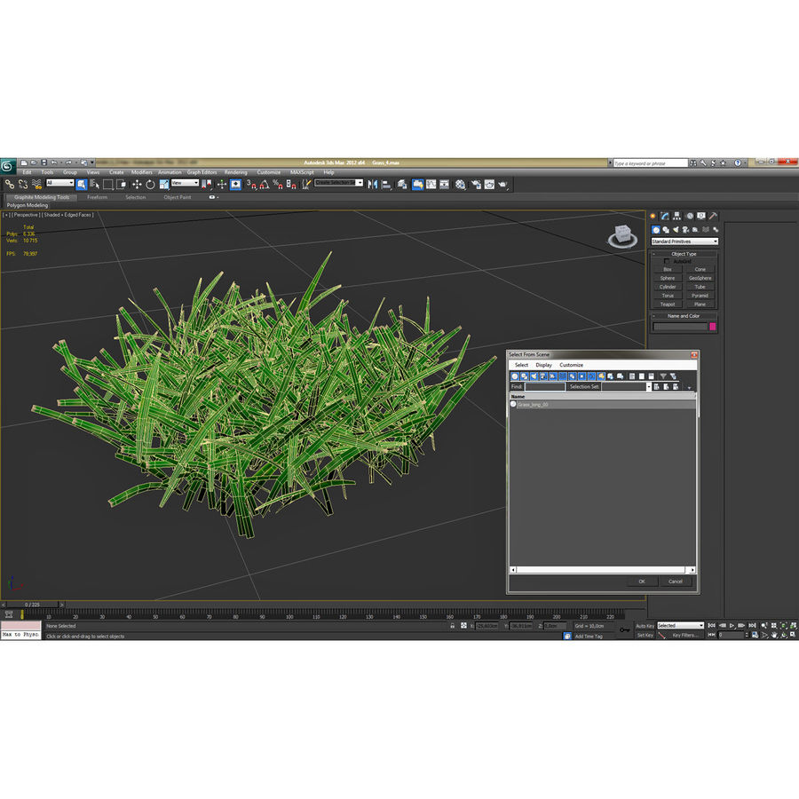 Grass 4 royalty-free 3d model - Preview no. 16