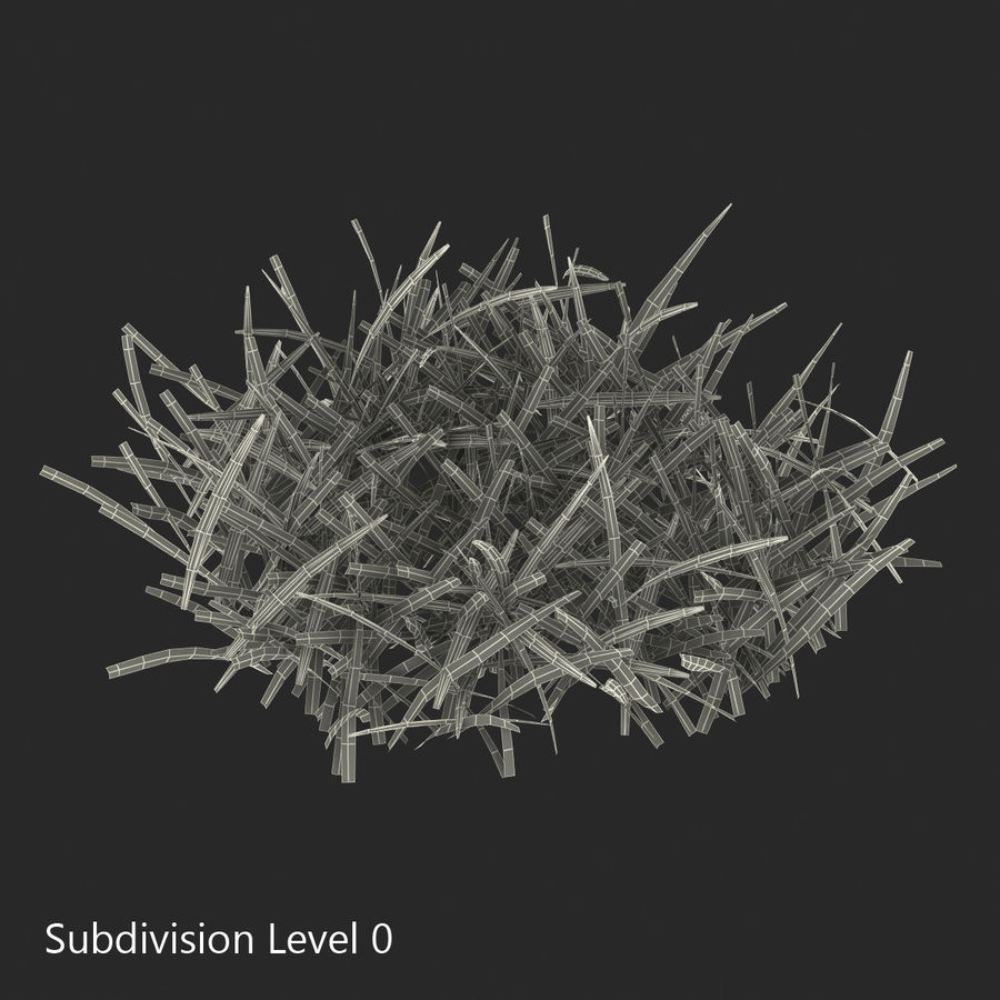 Grass 4 royalty-free 3d model - Preview no. 10