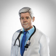 Yaşlı doktor - sabit 3d model