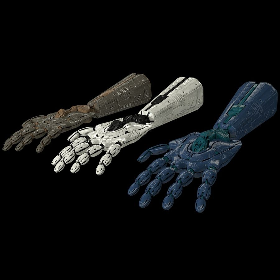 Robot Hand v1 royalty-free modelo 3d - Preview no. 4