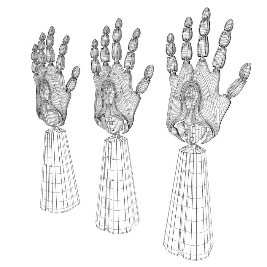 Robot Hand v1 royalty-free modelo 3d - Preview no. 6