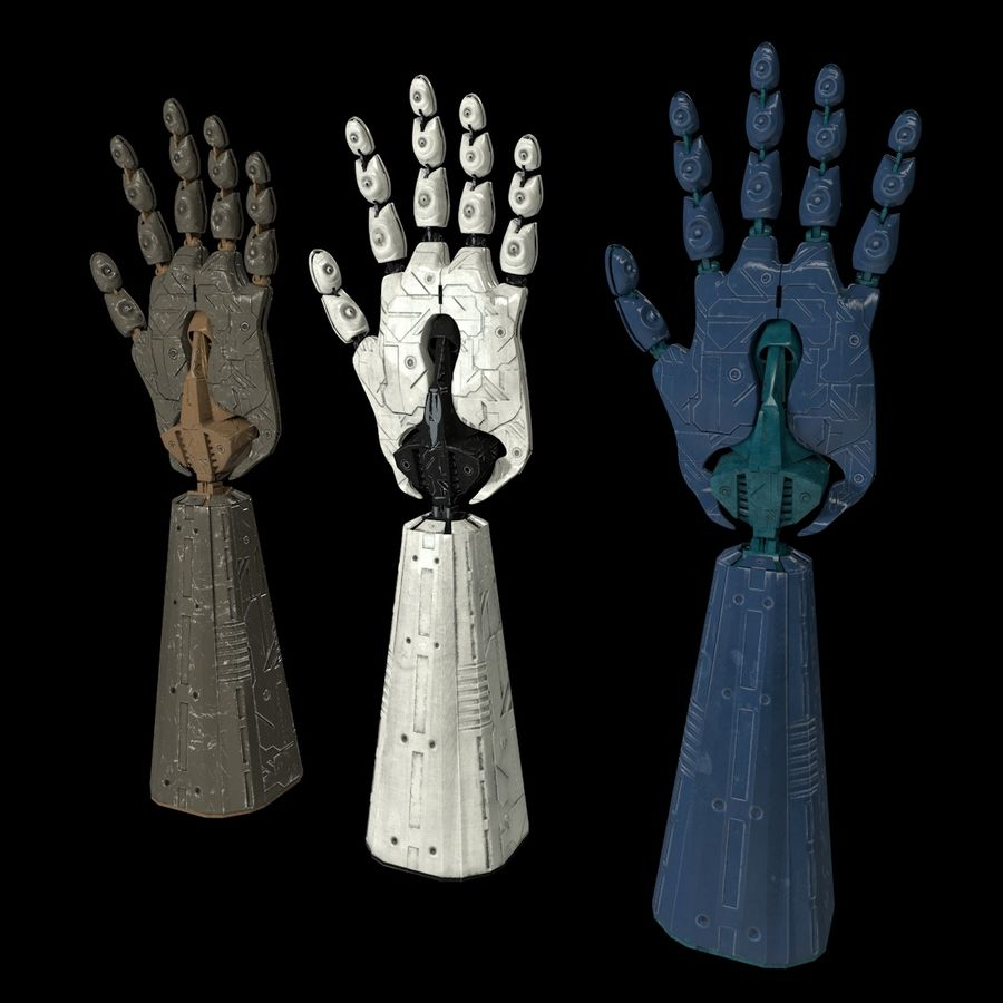 Robot Hand v1 royalty-free modelo 3d - Preview no. 3