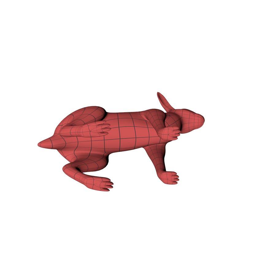 Rabbit base mesh royalty-free 3d model - Preview no. 5