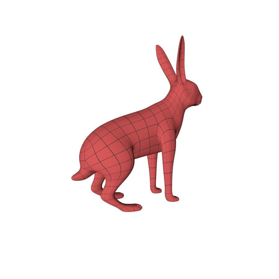 Rabbit base mesh royalty-free 3d model - Preview no. 6