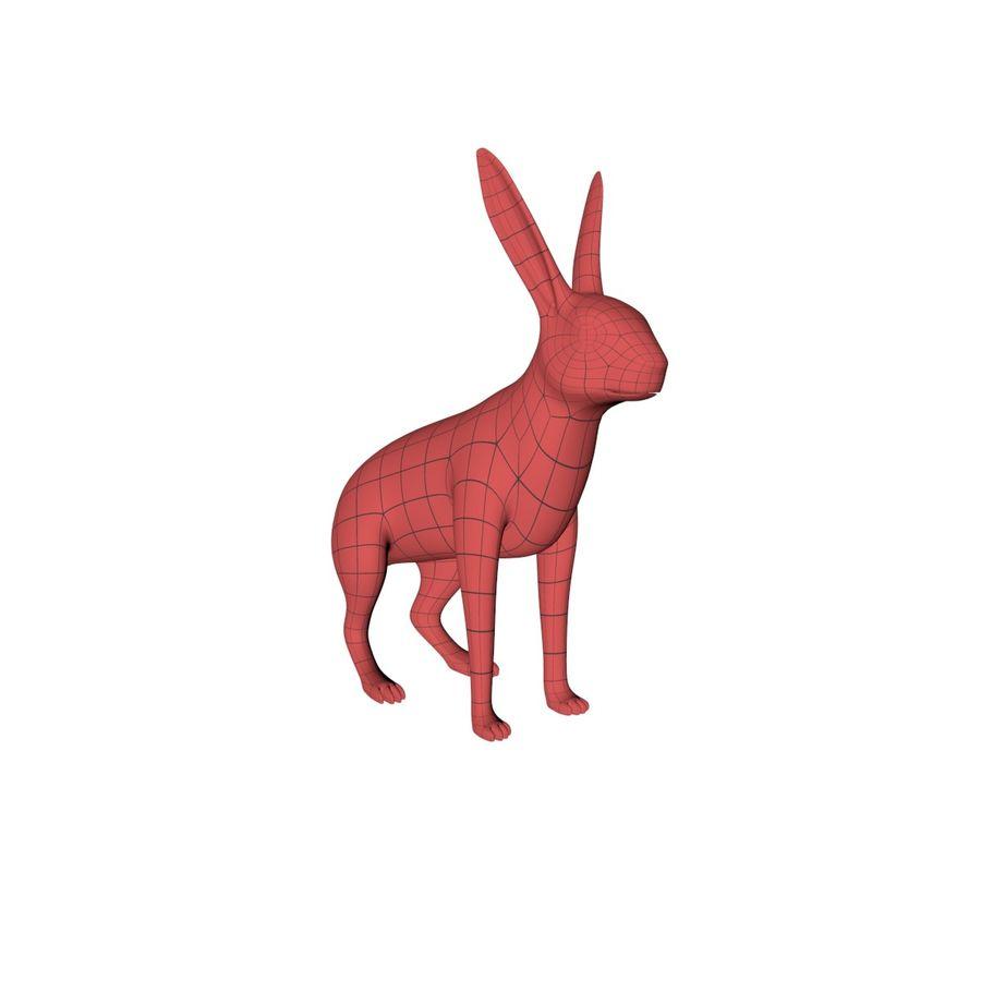 Rabbit base mesh royalty-free 3d model - Preview no. 2