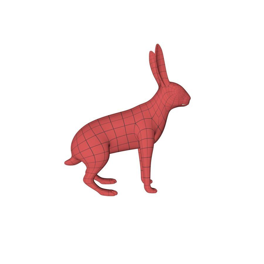 Rabbit base mesh royalty-free 3d model - Preview no. 1