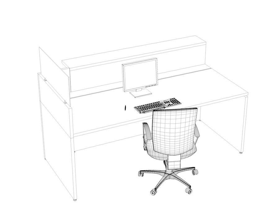 Philo desk royalty-free 3d model - Preview no. 3