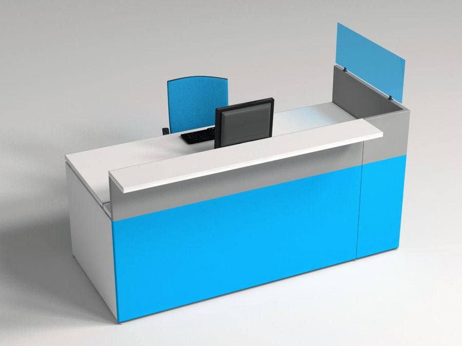 Philo desk royalty-free 3d model - Preview no. 1