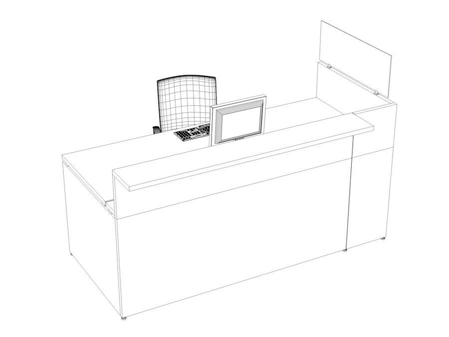 Philo desk royalty-free 3d model - Preview no. 4