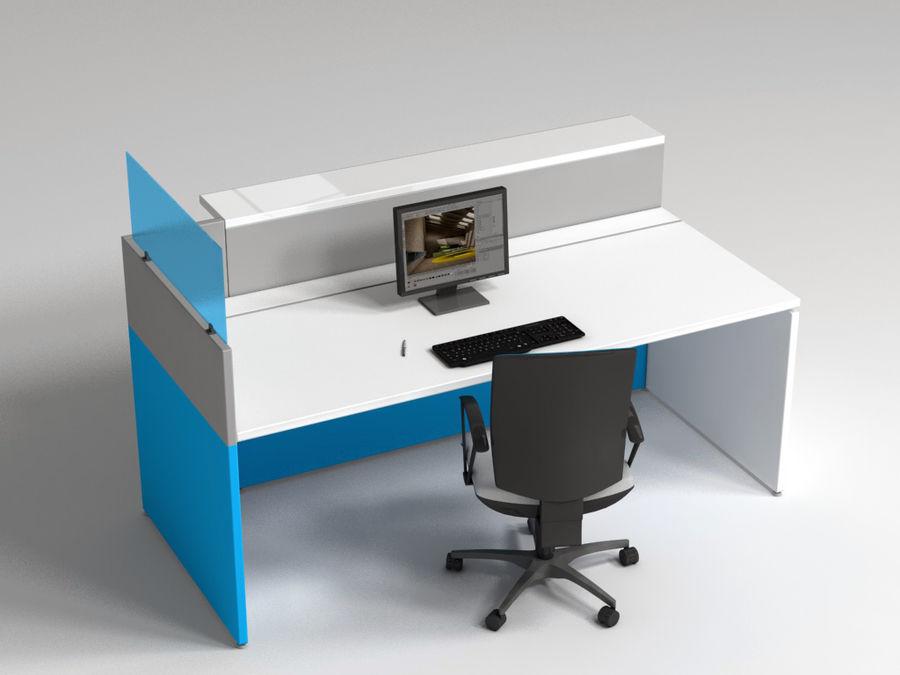 Philo desk royalty-free 3d model - Preview no. 2