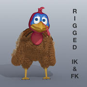 Turkey Character Rigged 3d model