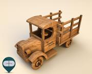 drewniany samochód 2 3d model