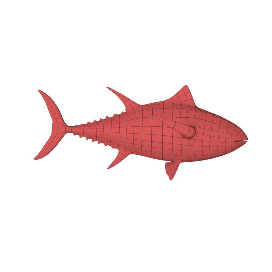 Tuna base mesh royalty-free 3d model - Preview no. 1