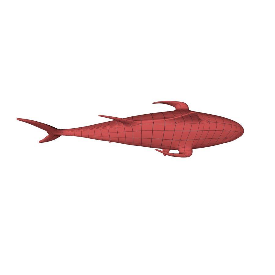 Tuna base mesh royalty-free 3d model - Preview no. 4