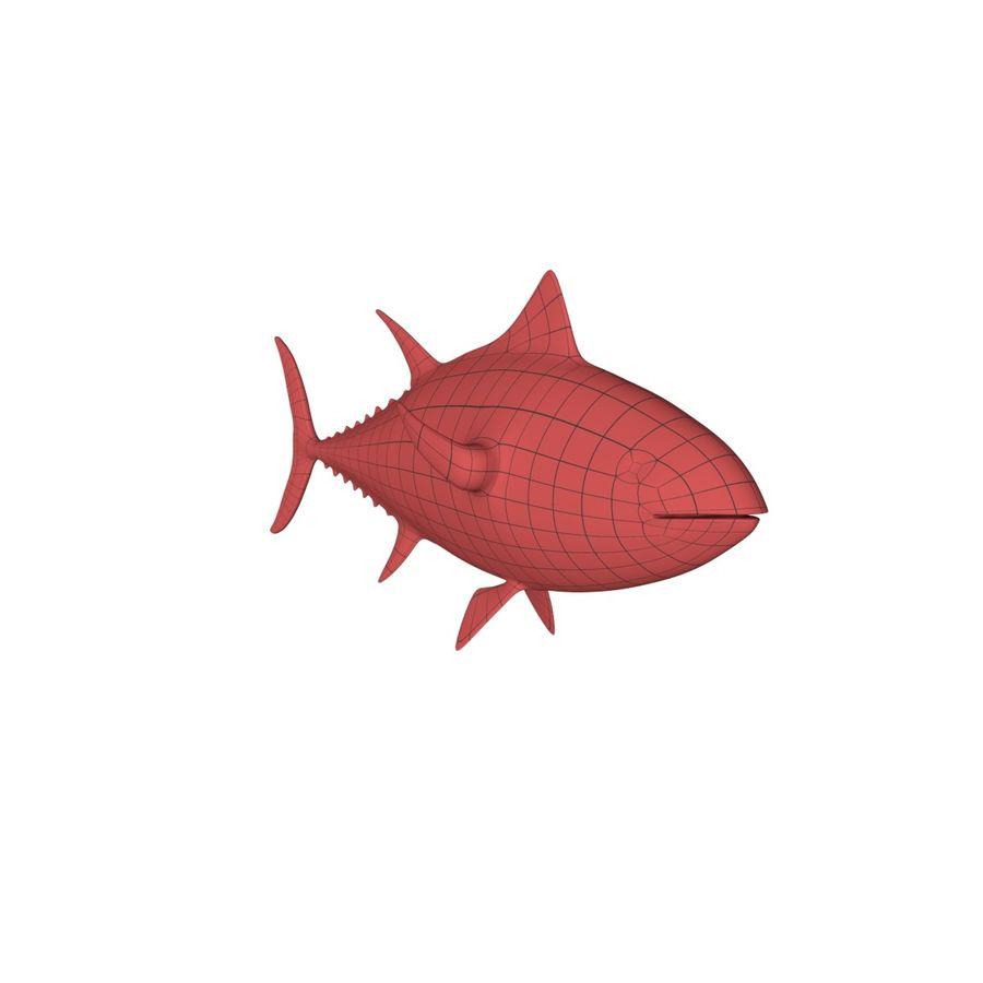 Tuna base mesh royalty-free 3d model - Preview no. 2