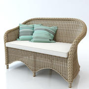Rattan couch 3d model