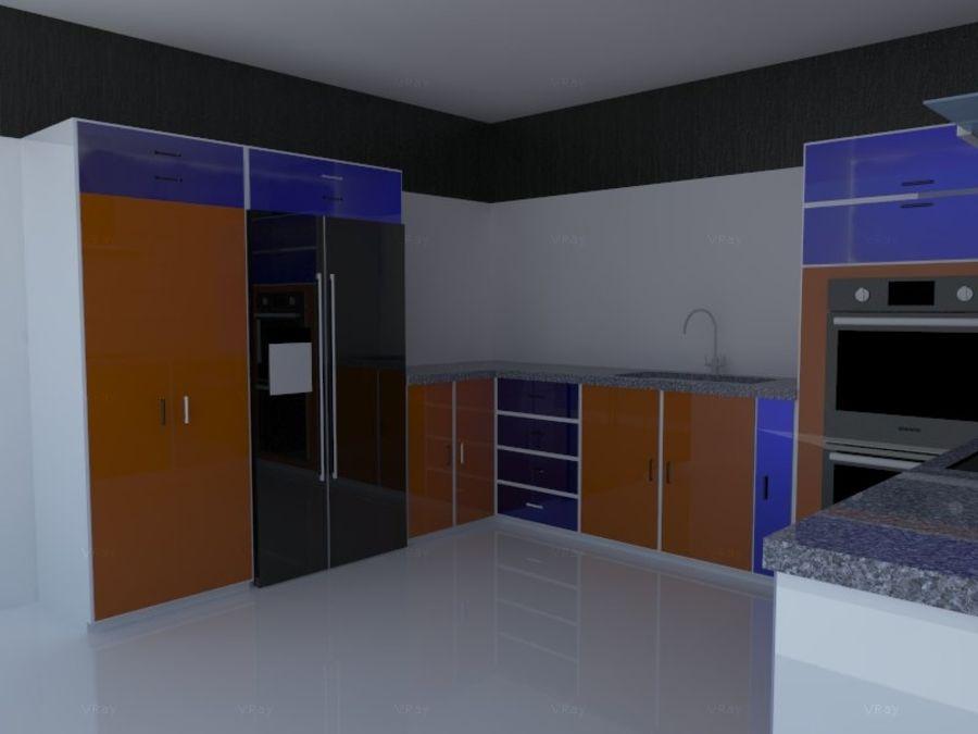 Kitchen design royalty-free 3d model - Preview no. 1