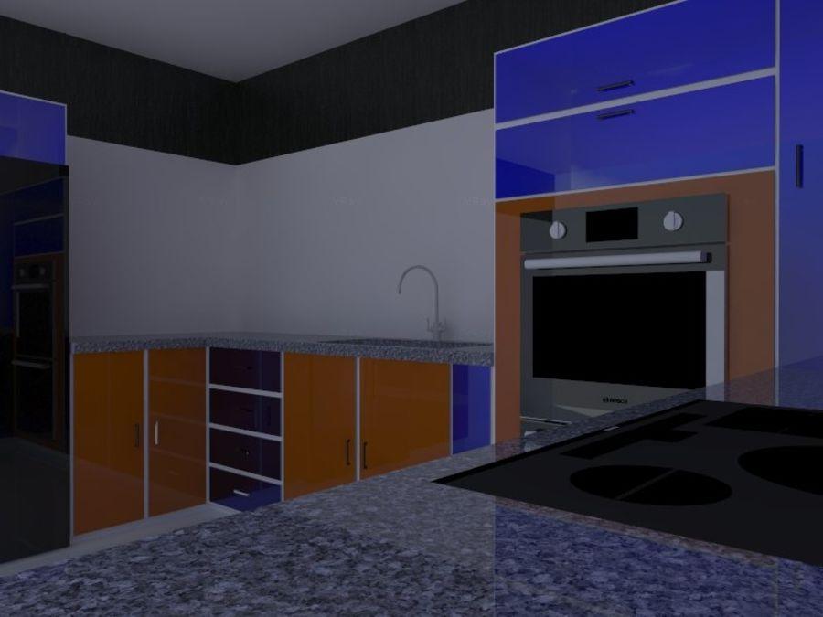 Kitchen design royalty-free 3d model - Preview no. 5