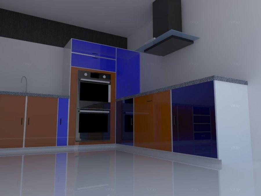 Kitchen design royalty-free 3d model - Preview no. 2