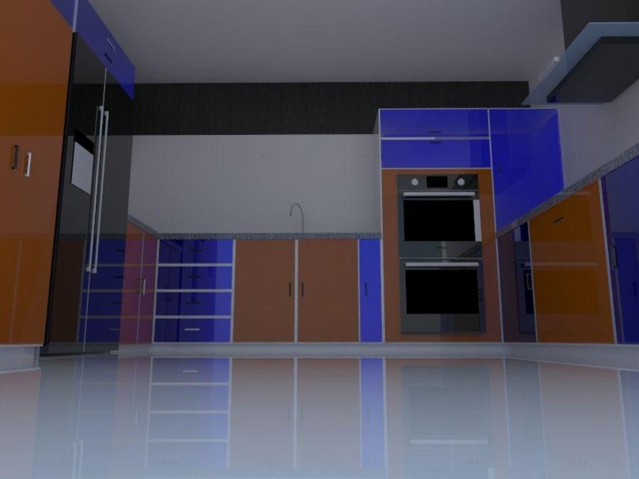 Kitchen design royalty-free 3d model - Preview no. 3