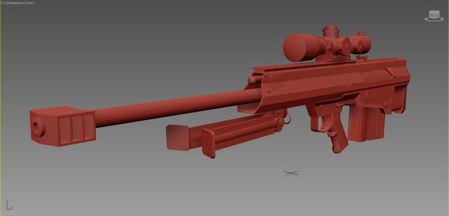 Barrett XM500 Sniper Rifle royalty-free 3d model - Preview no. 3