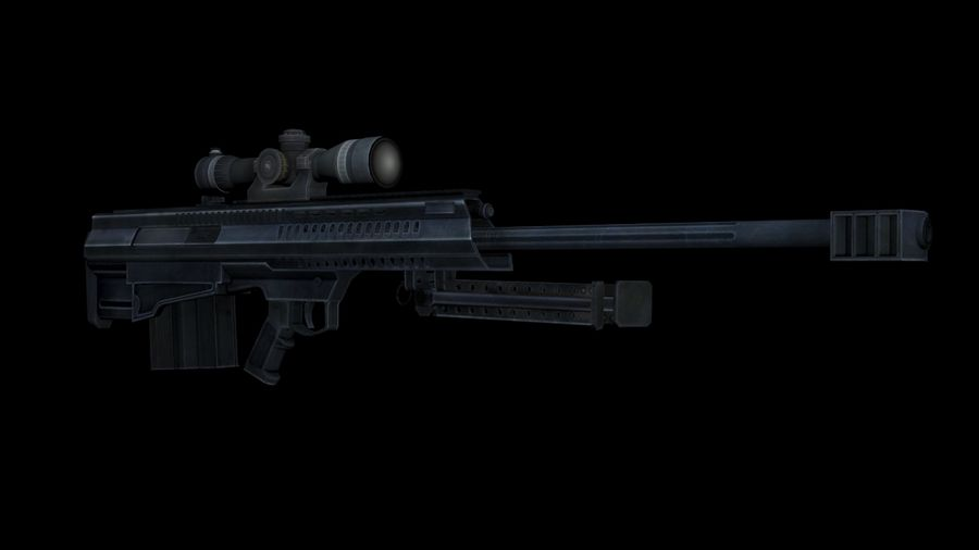 Barrett XM500 Sniper Rifle royalty-free 3d model - Preview no. 1