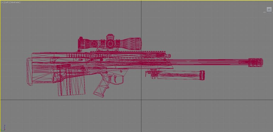 Barrett XM500 Sniper Rifle royalty-free 3d model - Preview no. 6
