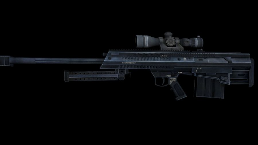 Barrett XM500 Sniper Rifle royalty-free 3d model - Preview no. 5