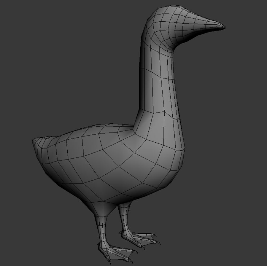 Goose royalty-free 3d model - Preview no. 5