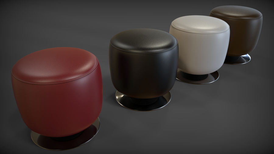 Low Stool royalty-free 3d model - Preview no. 11