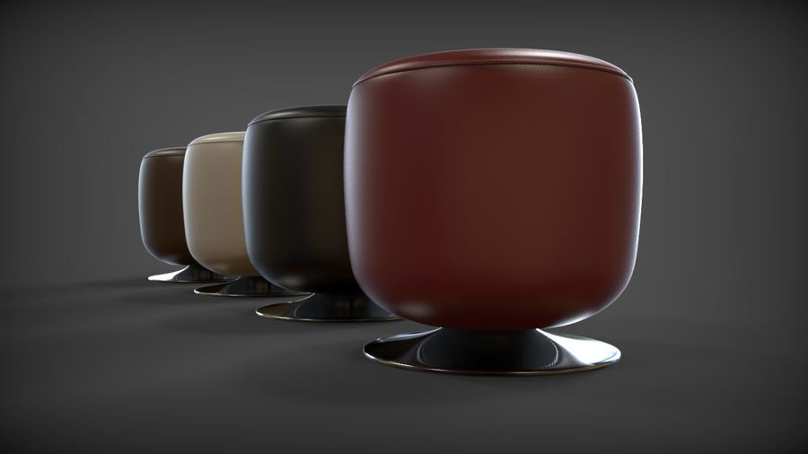 Low Stool royalty-free 3d model - Preview no. 1