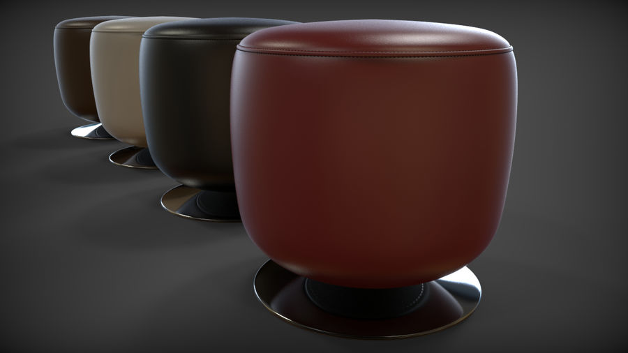Low Stool royalty-free 3d model - Preview no. 10