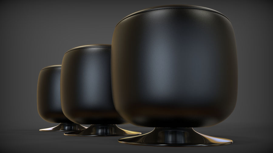 Low Stool royalty-free 3d model - Preview no. 9