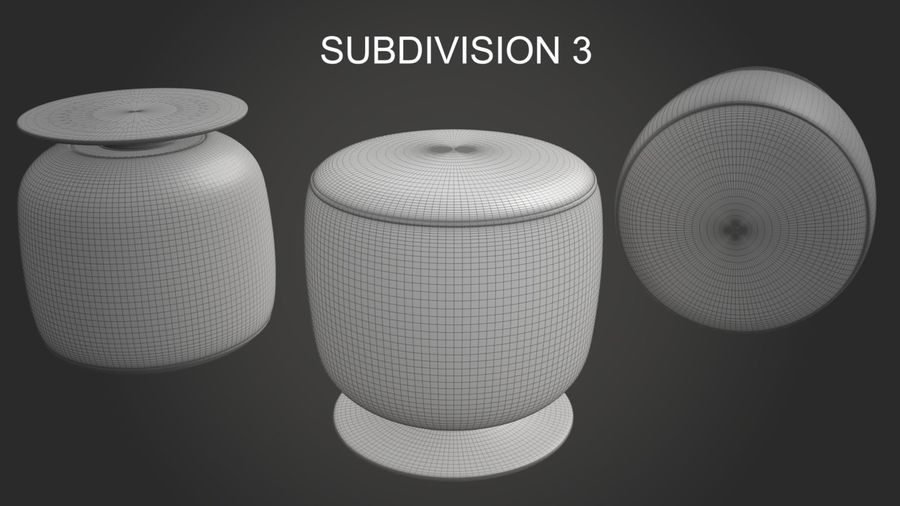 Low Stool royalty-free 3d model - Preview no. 13