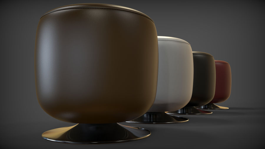 Low Stool royalty-free 3d model - Preview no. 12