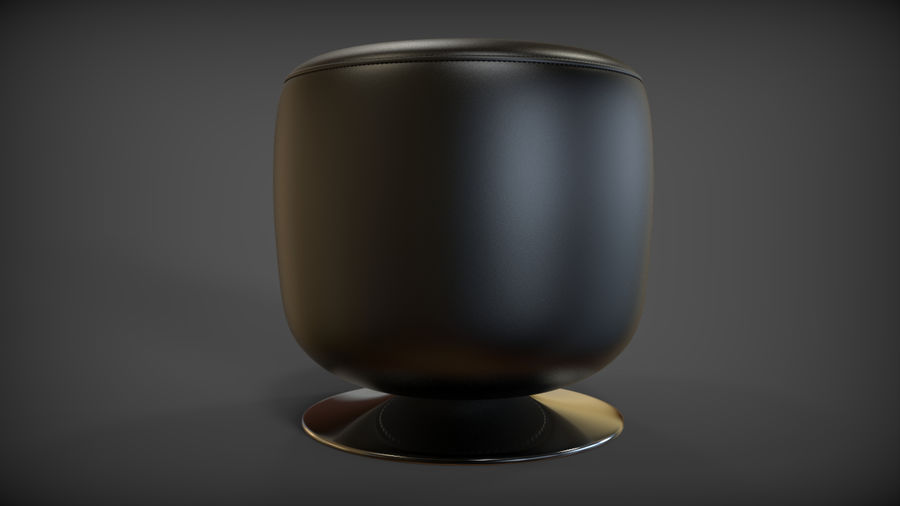 Low Stool royalty-free 3d model - Preview no. 2