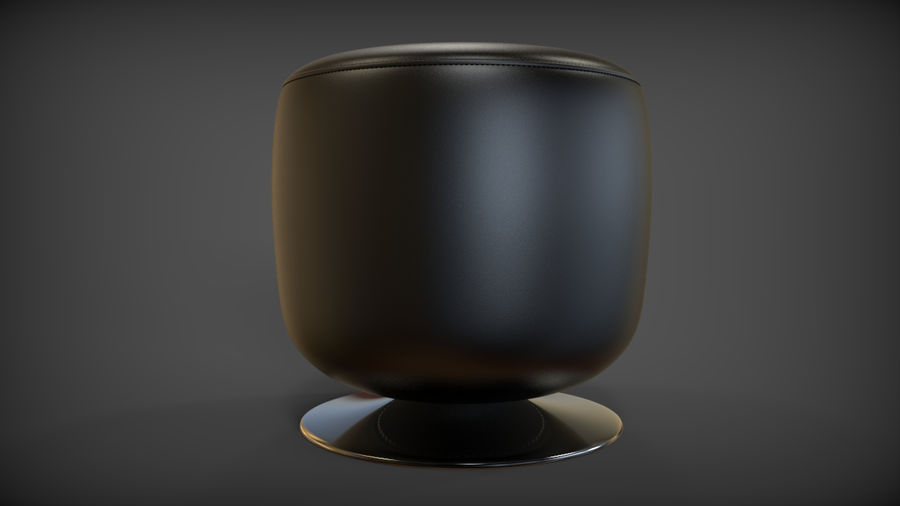 Low Stool royalty-free 3d model - Preview no. 4