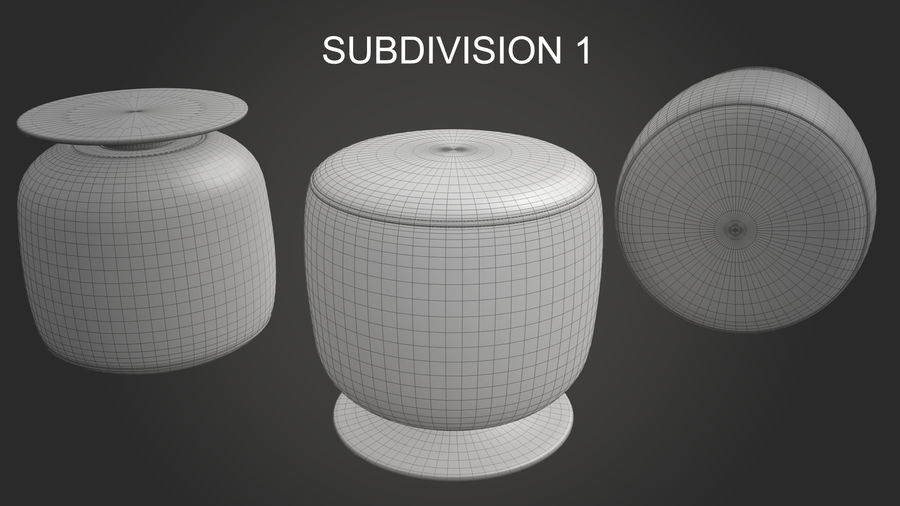 Low Stool royalty-free 3d model - Preview no. 14