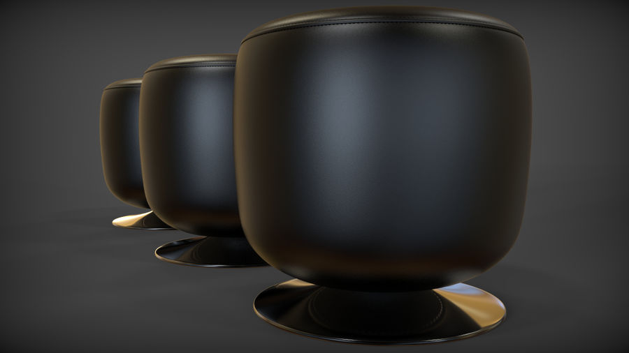 Low Stool royalty-free 3d model - Preview no. 7