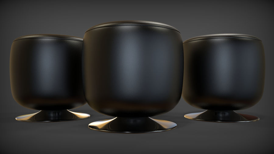 Low Stool royalty-free 3d model - Preview no. 5