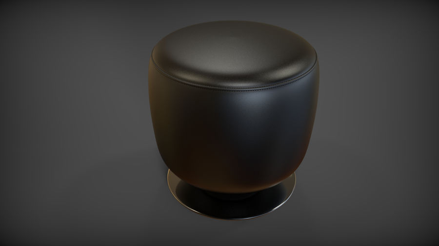 Low Stool royalty-free 3d model - Preview no. 3