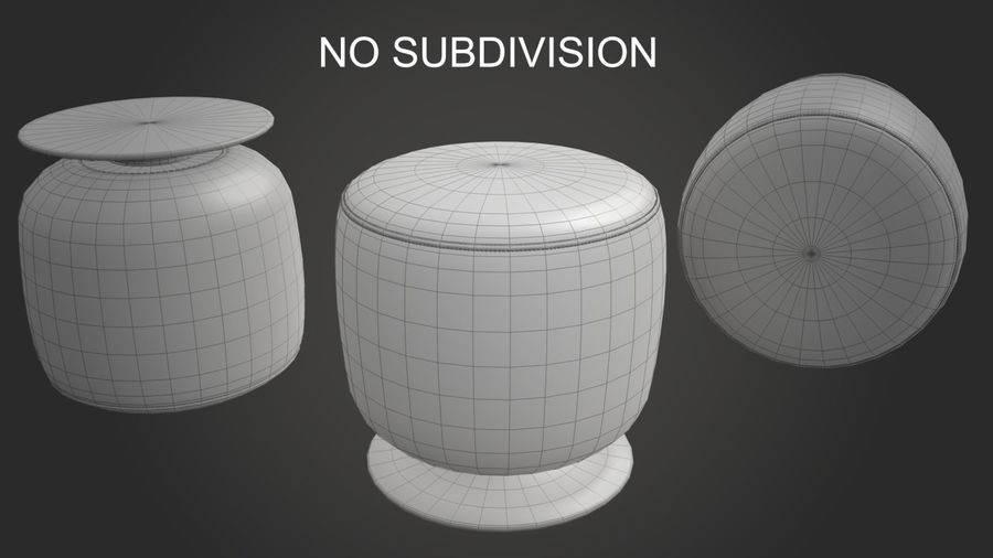 Low Stool royalty-free 3d model - Preview no. 15