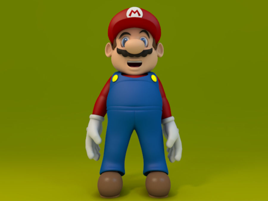 Super Mario Video Game Character royalty-free 3d model - Preview no. 3